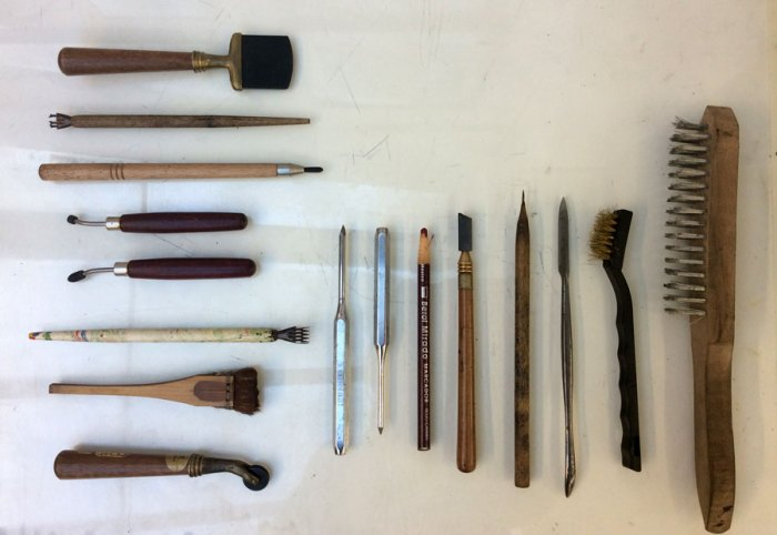 East-London-Printmakers-IreneBadia-Tools1