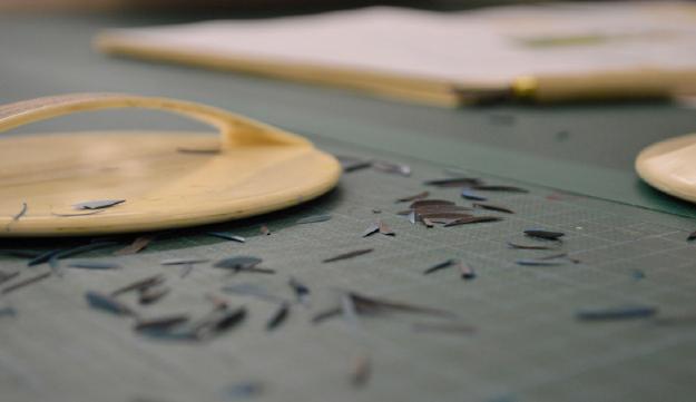 Linocut closeup