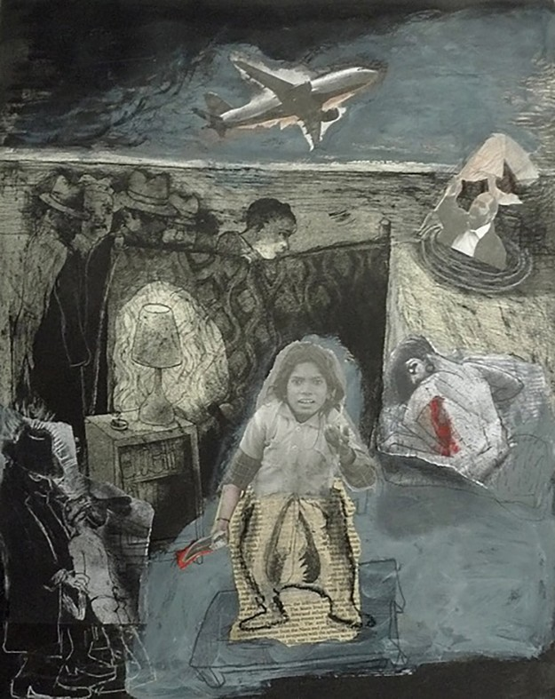 Marcelle Hanselaar_Nobody is innocent anymore 1_Mixed Media Collage_70x60cm