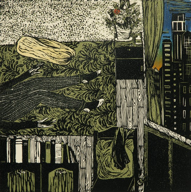 Amrita Saraogi_My New York Apartment Day 1_Linocut.jpg